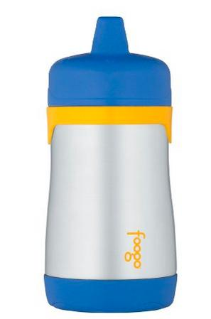 Thermos Foogo Phases Stainless Steel Sippy Cup, Blue/Yellow, 10 Ounce