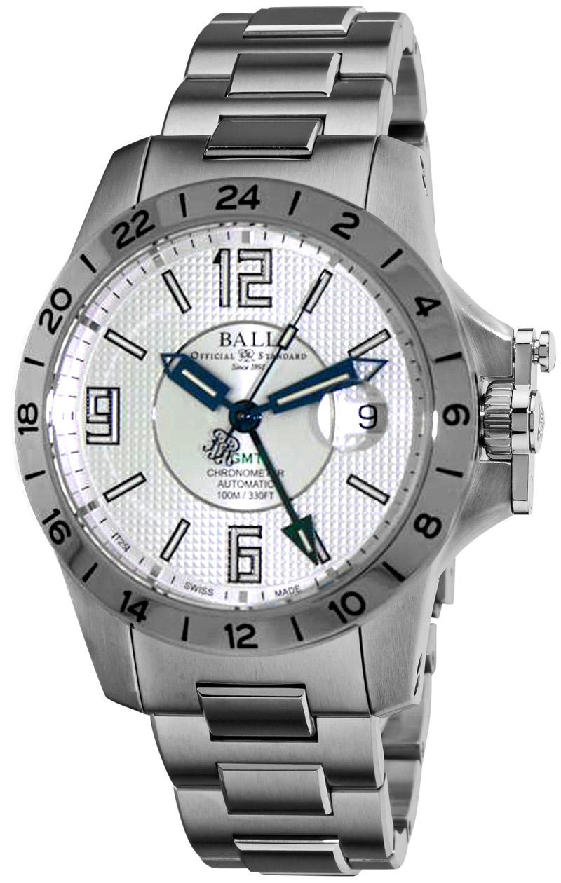 $1499Ball Engineer Hydrocarbon Magnate GMT Mens Watch GM2098C-SCAJ-SL, Dealmoon Exclusive