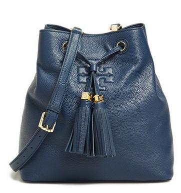Tory Burch 'Thea' Pebbled Leather Bucket Bag @ Nordstrom