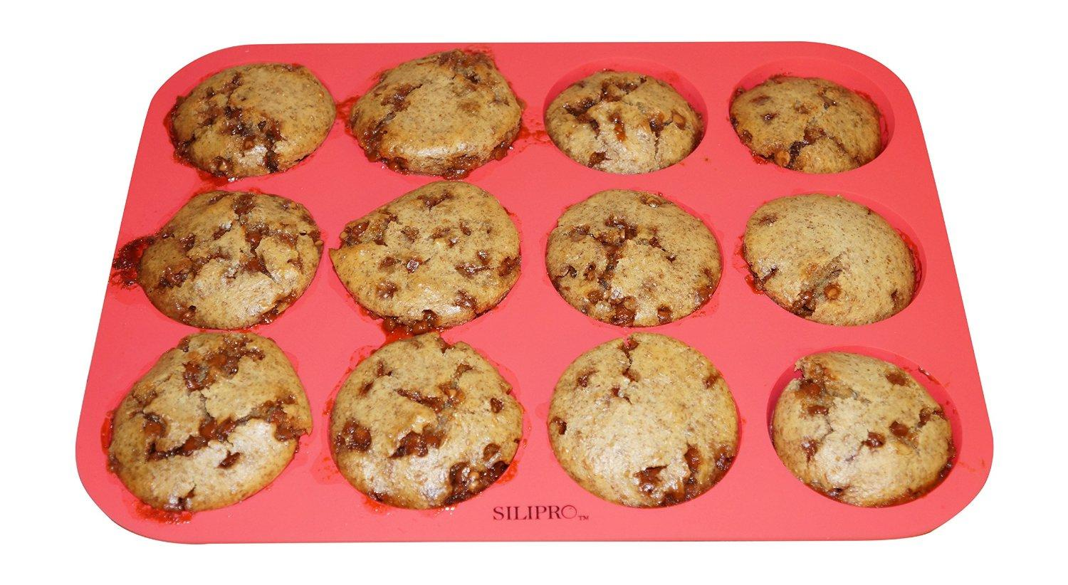 SiliPro Silicone Muffin Pan, 12 Cups
