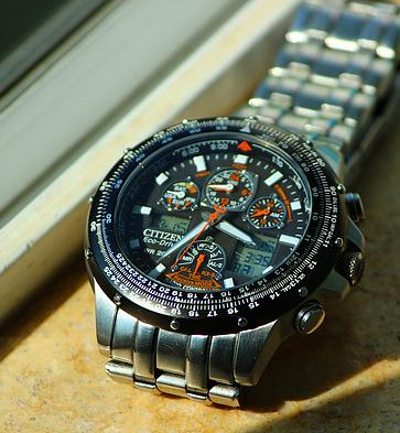 Citizen Skyhawk A-T Stainless Steel Chronograph Atomic Men's Watch JY0000-53E