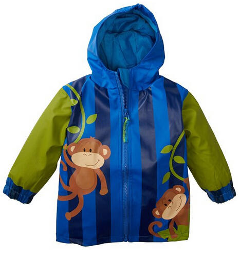 Stephen Joseph Boys 6/6X Rain Coat in Blue