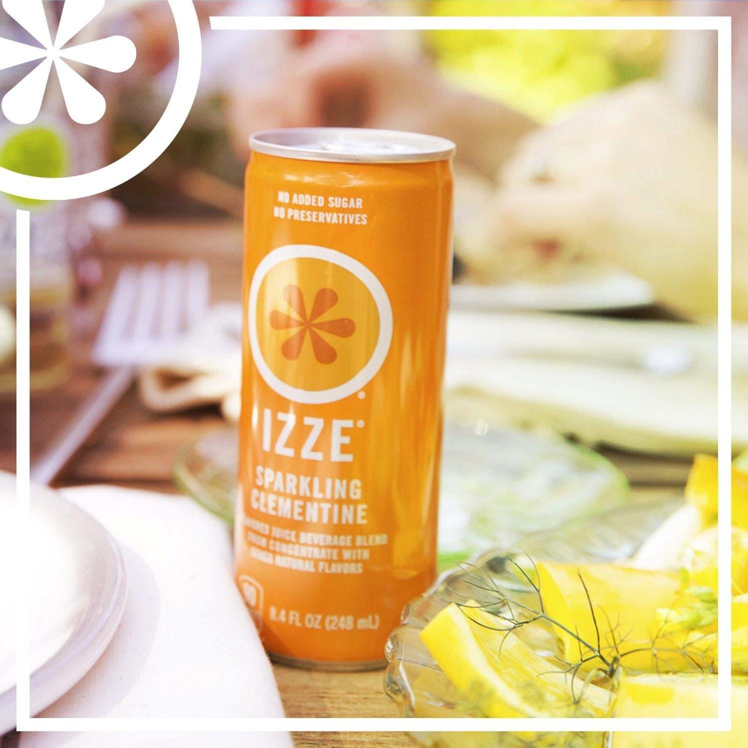 IZZE Fortified Sparkling Juice, Clementine, 8.4-Ounce Cans (Pack of 24)