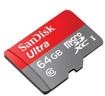 SanDisk Ultra 64GB Ultra Micro SDXC UHS-I/Class 10 Card with Adapter (SDSQUNC-064G-GN6MA)