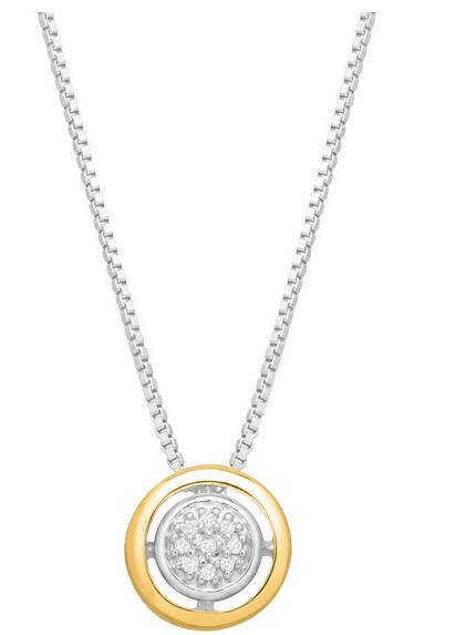 Halo Pendant with Diamonds