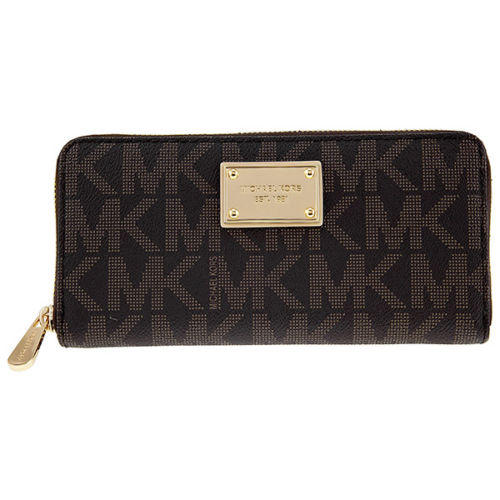 Michael Kors MK Logo Zip Continental Wallet