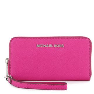 MICHAEL Michael Kors Jet Set Large Multifunction Wallet, Raspberry @ Neiman Marcus