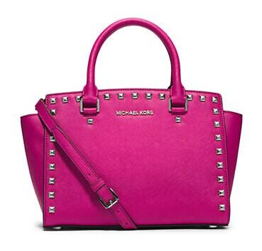 MICHAEL MICHAEL KORS Selma Studded Saffiano Leather @ Lord & Taylor