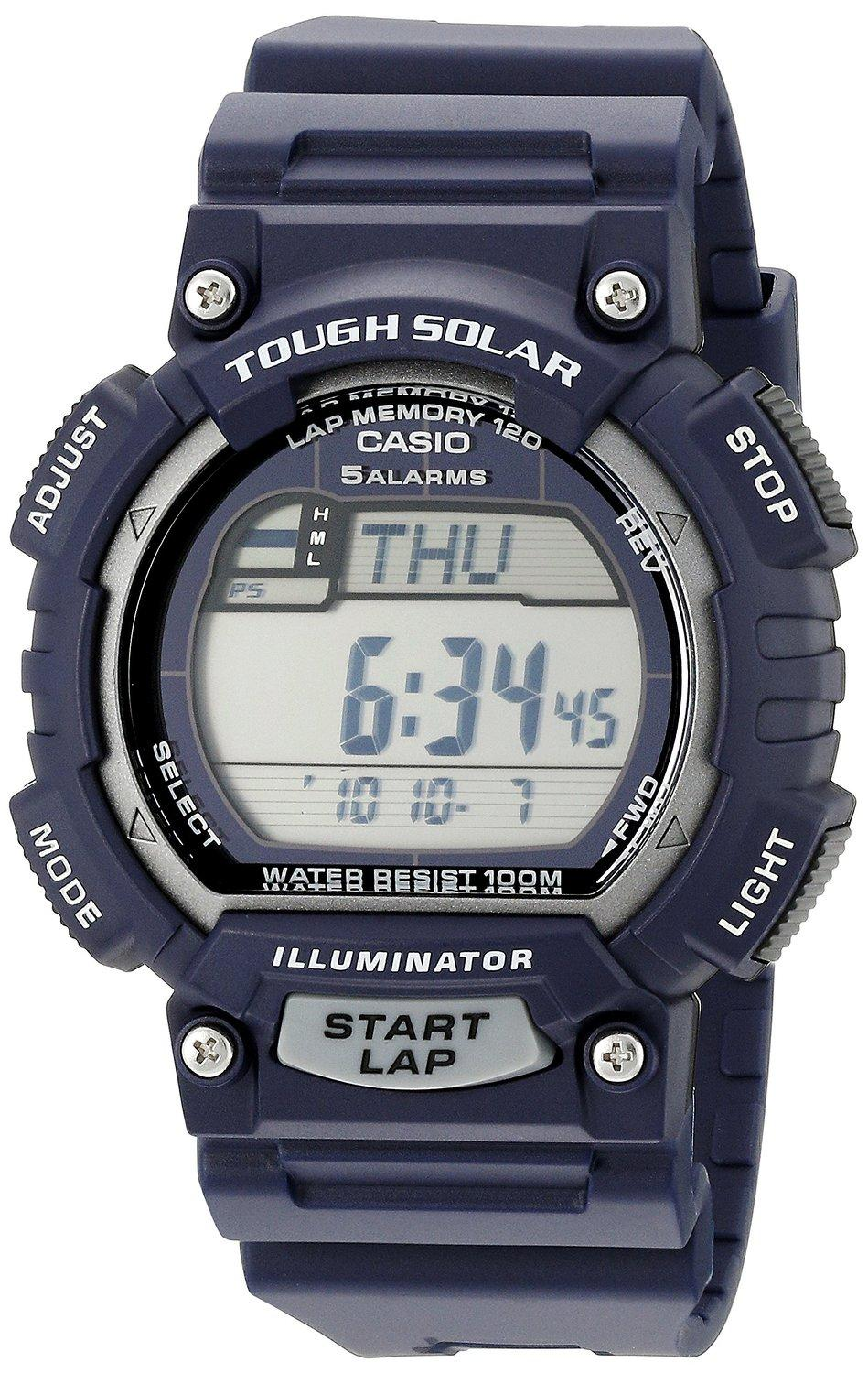 Casio Men's STL-S100H-2A2VCF Tough Solar Stainless Steel Watch With Black Resin Band
