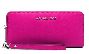 MICHAEL MICHAEL KORS Jet Set Leather Travel Wristlet @ Lord & Taylor