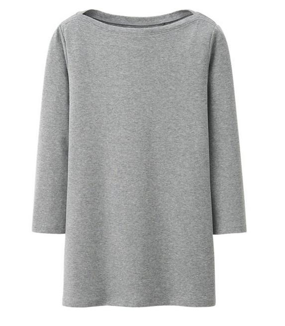 Women Supima Cotton Modal Boat Neck 3/4 Sleeve T (XS) @ Uniqlo