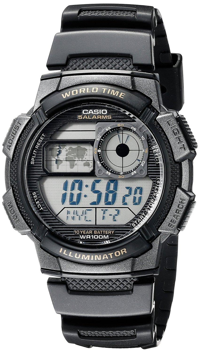 Casio Men's AE-1000W-1AVDF Resin Sport Watch with Black Band