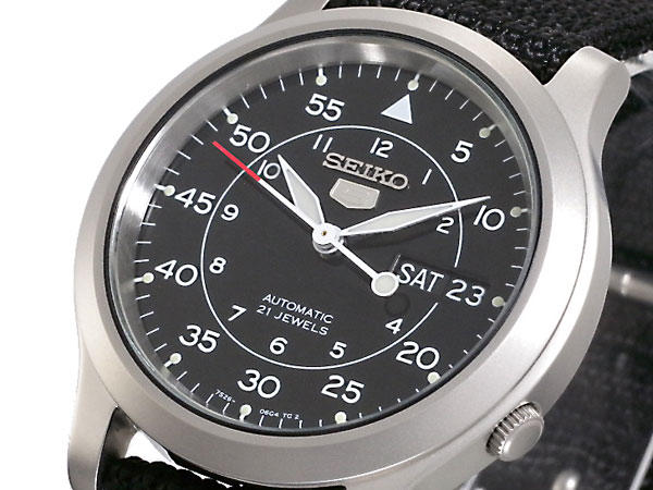 Lowest price! $40.99 Seiko Men's SNK809 Seiko 5 Automatic Stainless Steel Watch with Black Canvas Strap