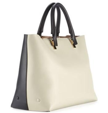Chloe  Baylee Bicolor Tote Bag, Gray/Black @ Bergdorf Goodman