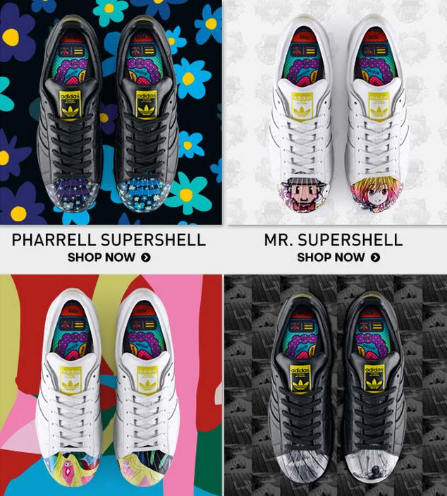From $100 Supershell 5 Artists Superstar Launched @ adidas