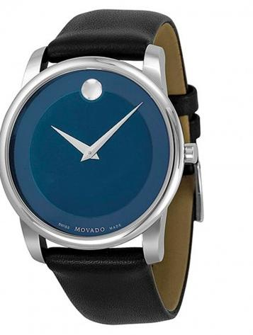 Movado Museum Blue Dial Stainless Steel Men's Watch 0606610 (Dealmoon Exclusive)