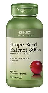 GNC Herbal Plus® Grape Seed Extract (300 mg, 100 Capsules)