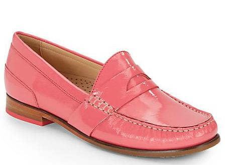 Cole Haan Laurel Patent Leather Moccasin (size 6) @ Saks Off 5th