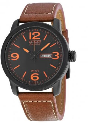 Citizen Eco Drive Black Dial Brown Leather Men's Watch BM8475-26E (Dealmoon Exclusive)