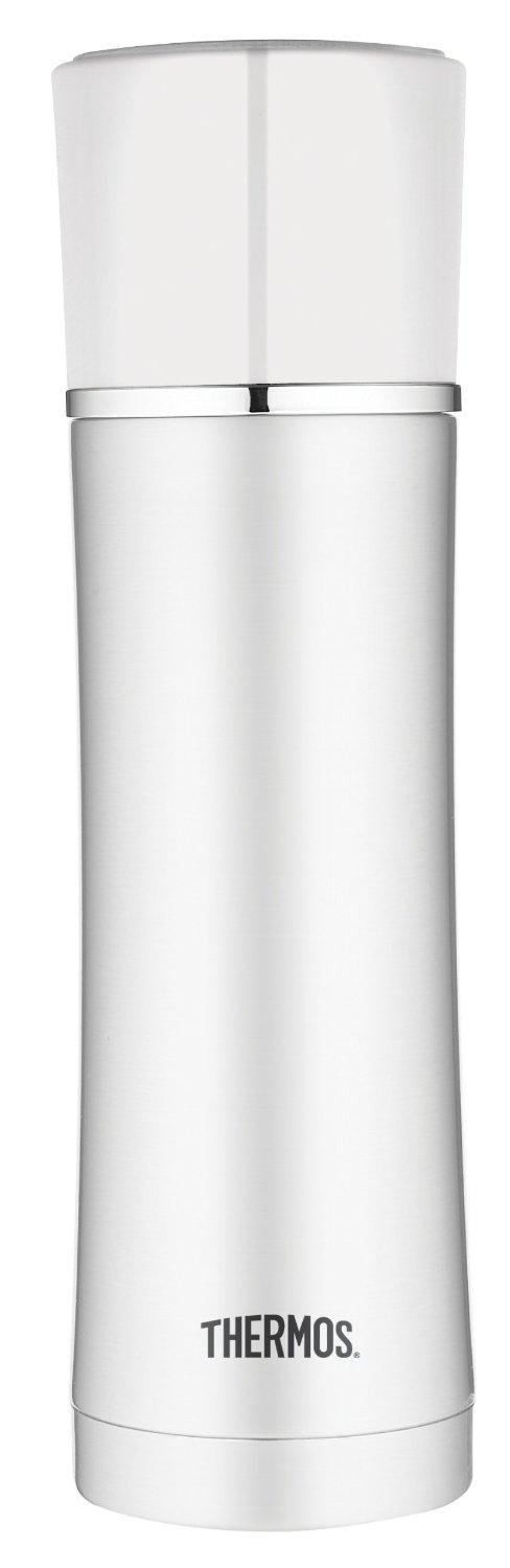 Thermos 17-Ounce Vacuum Insulated Stainless Steel Briefcase Bottle White