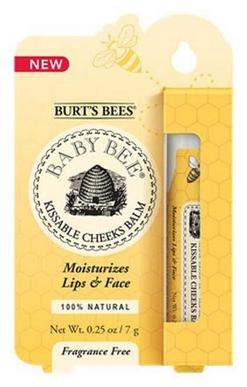 Burt's Bees Baby Bee Kissable Cheeks 100% Natural Balm, 0.25 Ounce