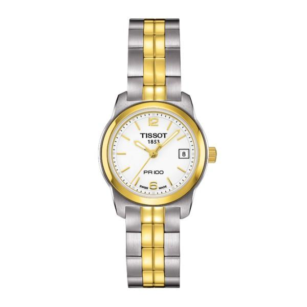 Tissot Women's T0492102201700 PR 100 Analog Display Swiss Quartz Two Tone Watch