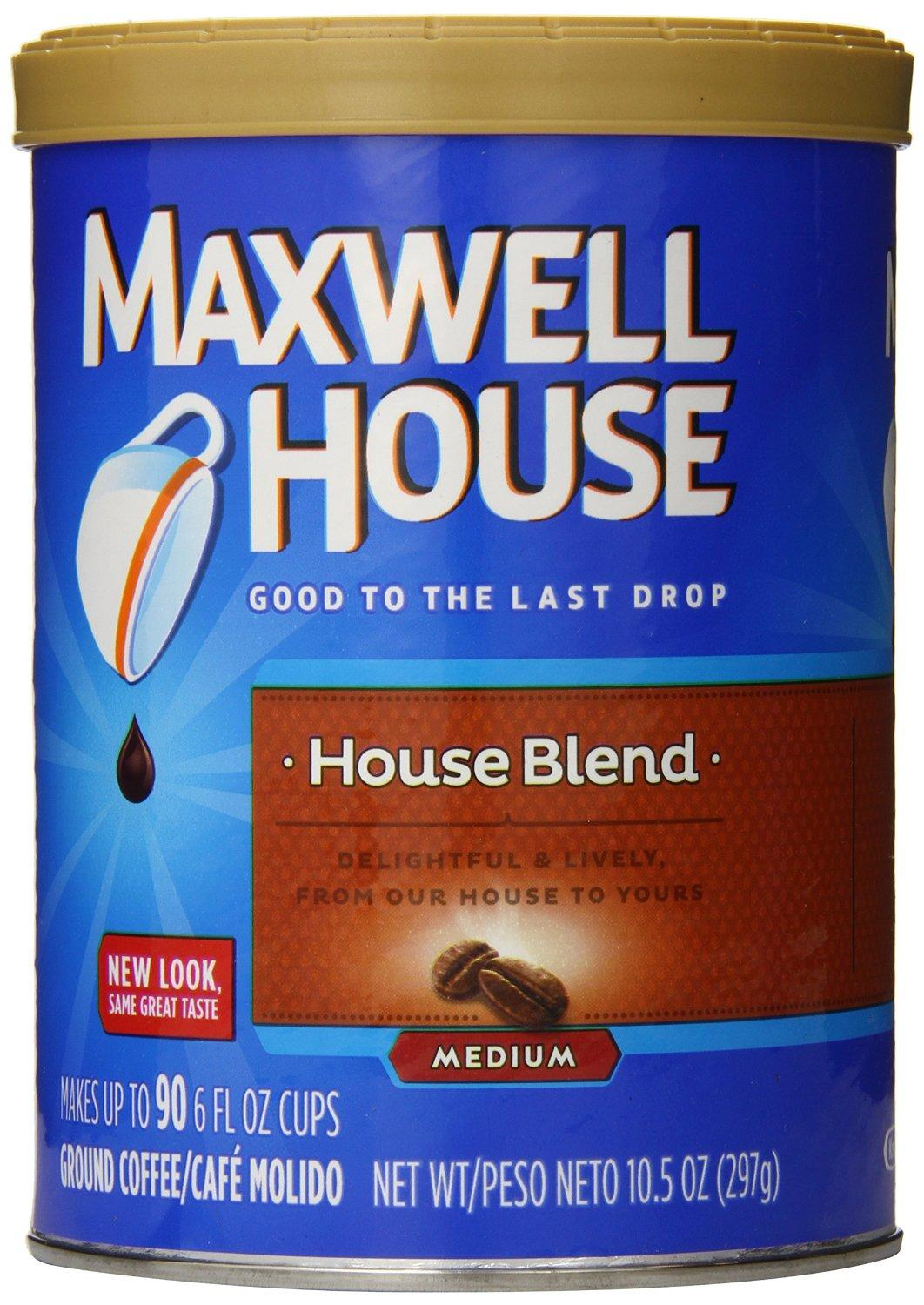 $1.65 Maxwell House Ground Coffee, House Blend, 10.5 Ounce