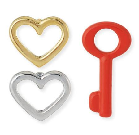 MARC by Marc Jacobs Key To My Heart 3-Piece Earring Set @ Neiman Marcus