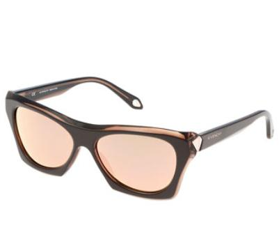 Givenchy  Faceted Square Sunglasses, Brown @ Bergdorf Goodman