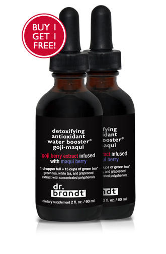 Buy One Get One FreeDetoxifying Anti-oxidant Water Booster® Goji-maqui @ drbrandtskincare.com