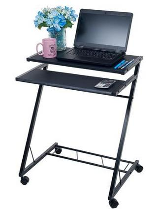 $25.99 Mobile Rolling Cart Compact Computer Desk