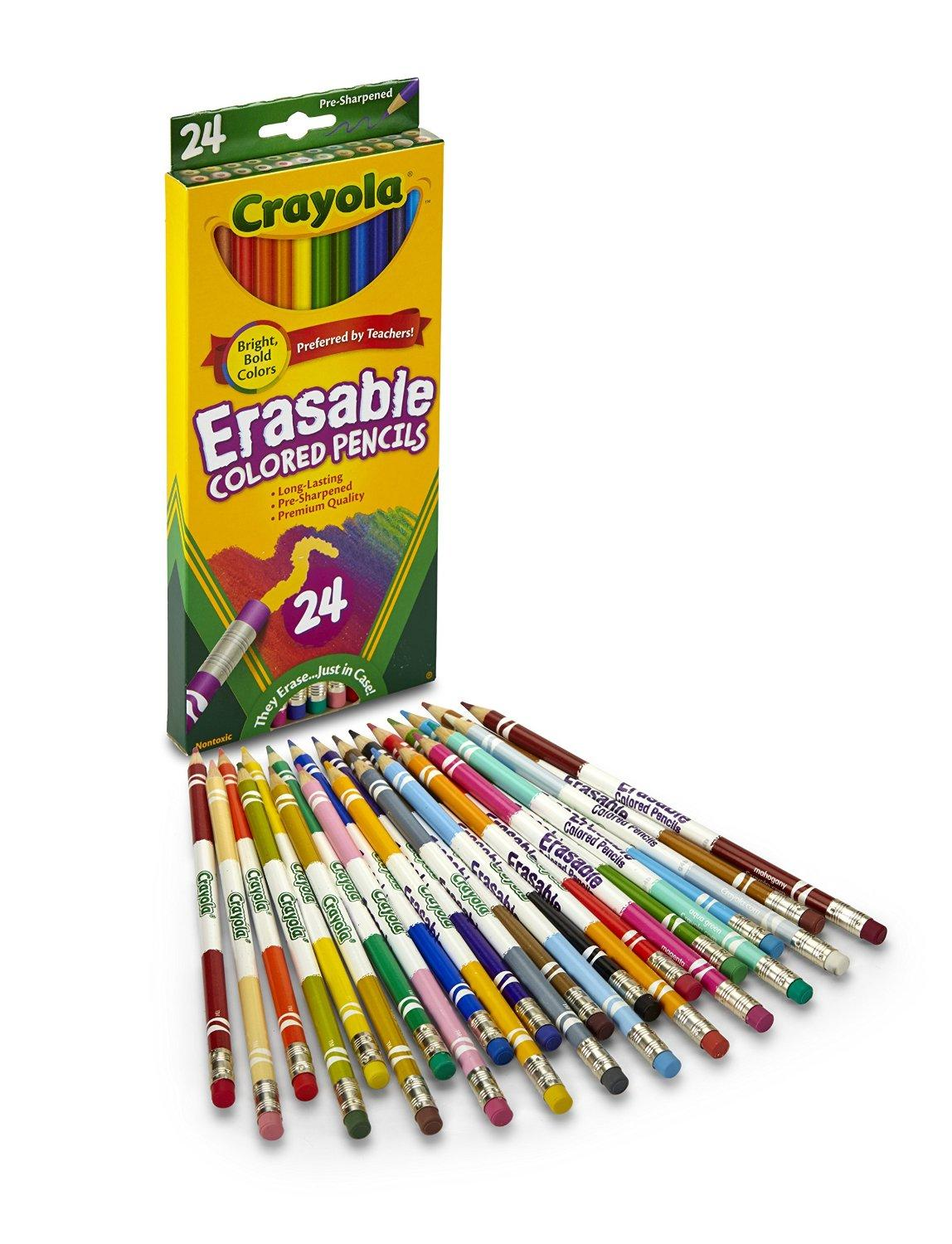 Crayola 24ct Erasable Colored Pencils