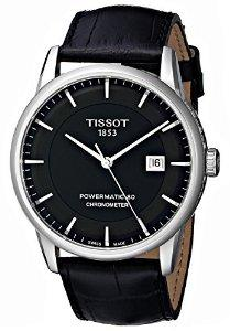 Tissot Mens Luxury Analog Display Swiss Automatic Black Watch