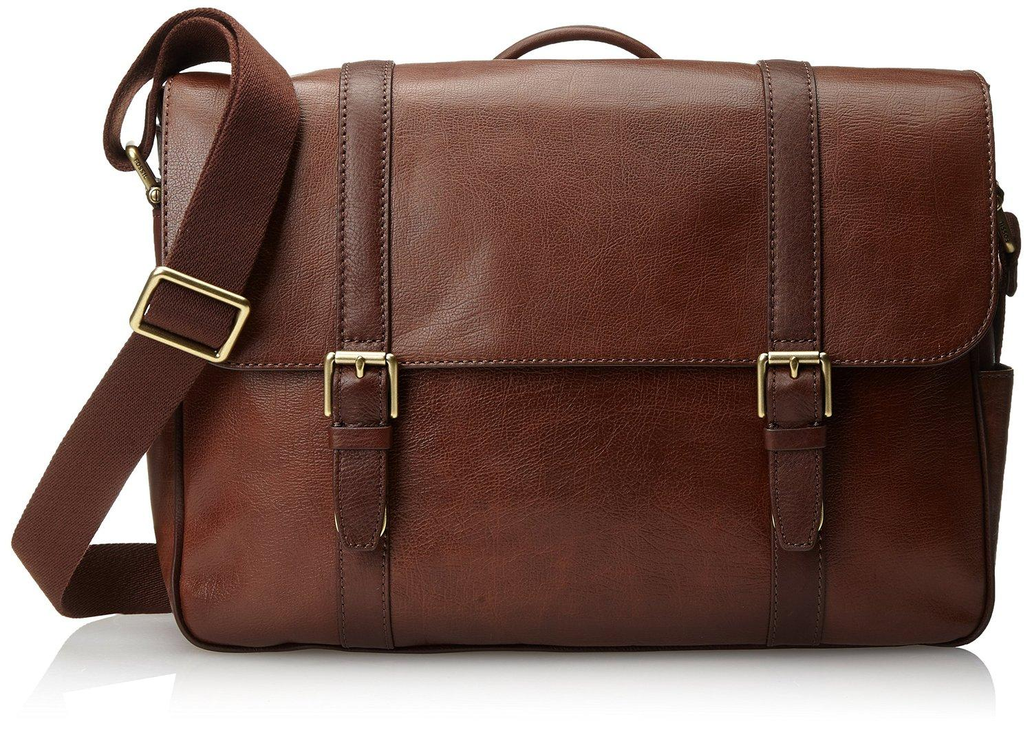 Fossil Men's Estate Saffiano Leather EW Messenger Bag