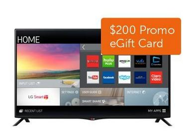 "$799.99 LG 49"" 60Hz 4K Ultra Smart HDTV (49UB8200) + $200 Dell Gift Card"