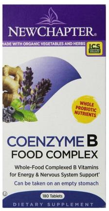 New Chapter Coenzyme B Food Complex, 180 Tablets
