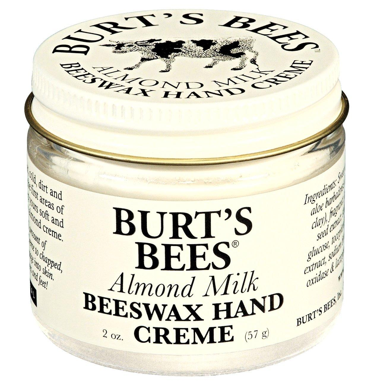 Burt's Bees 100% Natural Almond Milk Beeswax Hand Crème, 2 Ounces (Pack of 2)