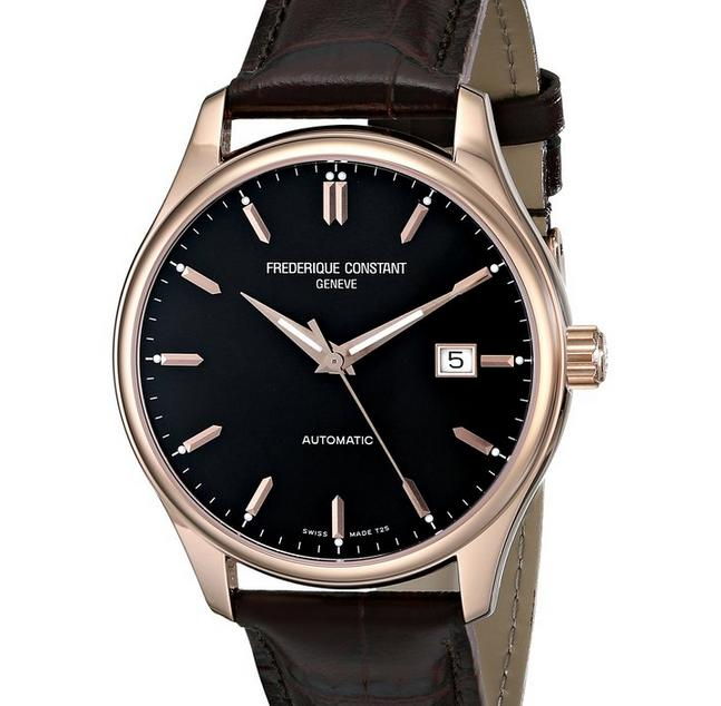 Frederique Constant Men's FC303C5B4 Index Analog Display Swiss Automatic Brown Watch