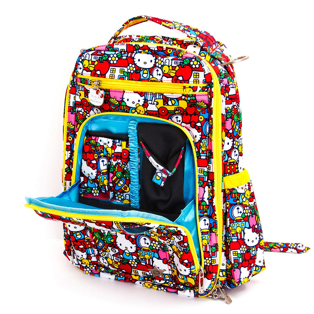 Ju-Ju-Be Be Right Back Hello Kitty Collection Backpack Diaper Bag, Tick Tock