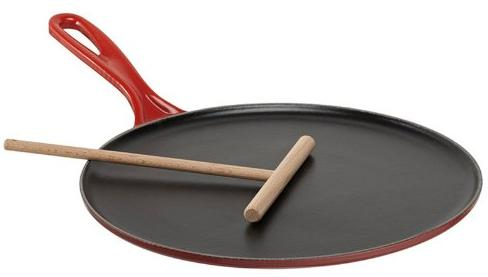 Le Creuset Enameled Cast-Iron Crepe Pan, 10-2/3-Inch, Cherry