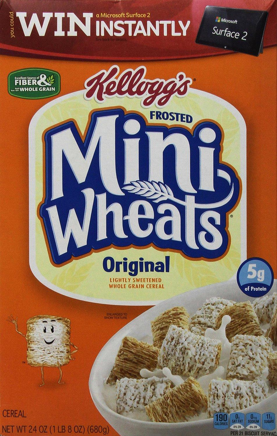 $1.97 Kellogg's Frosted Mini Wheats Original, 24 Ounce Box