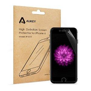 Aukey Premium HD Clear Screen Protectors Film for Apple iPhone 6 (5 Pack)