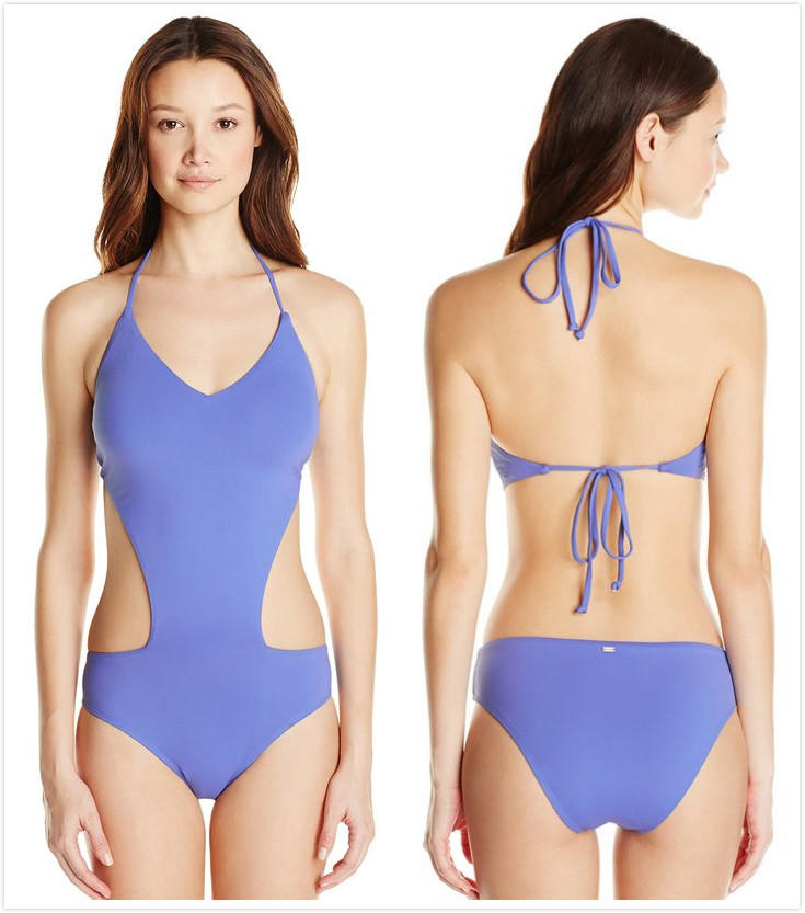 Roxy Juniors Girls Just Wanna Have Fun V-Neck One Piece Swimsuit