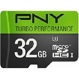 $10.99 PNY U3 High Performance 32GB High Speed MicroSDHC Class 10 UHS-I, up to 60MB/sec Flash Memory Card