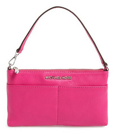 MICHAEL Michael Kors 'Large Bedford' Pebbled Leather Wristlet
