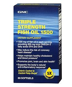 GNC Triple Strength Fish Oil 1500, 60 softgels