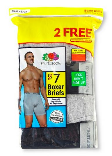 $11.99 Fruit Of The Loom - Men's Boxer Brief Multi-Colored