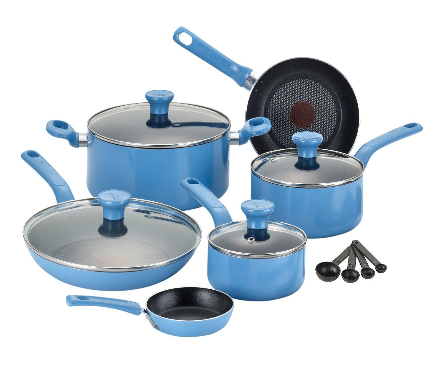 T-fal C969SE Excite Nonstick Dishwasher Safe / Oven Safe PFOA Free Cookware Set, 14-Piece