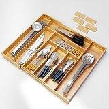 Culina Bamboo Utensils Drawer. Expandable