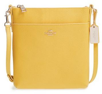 COACH Leather Crossbody Bag-Yellow @ Nordstrom.com
